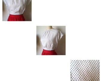 """Catalina of California """"Paloma"""" blouse done in a cotton/linen. Perfect for summertime!"""