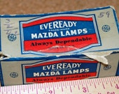 1942 New Eveready Mazda Radio Panel Bulbs Type 40 and Type 47 in Original Box!