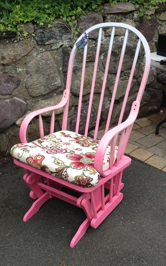 Hot Pink Rocking Chair Cushions Pink Ombre Glider Rocking Chair .