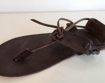 Barefoot Men sandals, Handmade sandals,  Genuine leather Barefoot Huarache sandals. Free shipping!