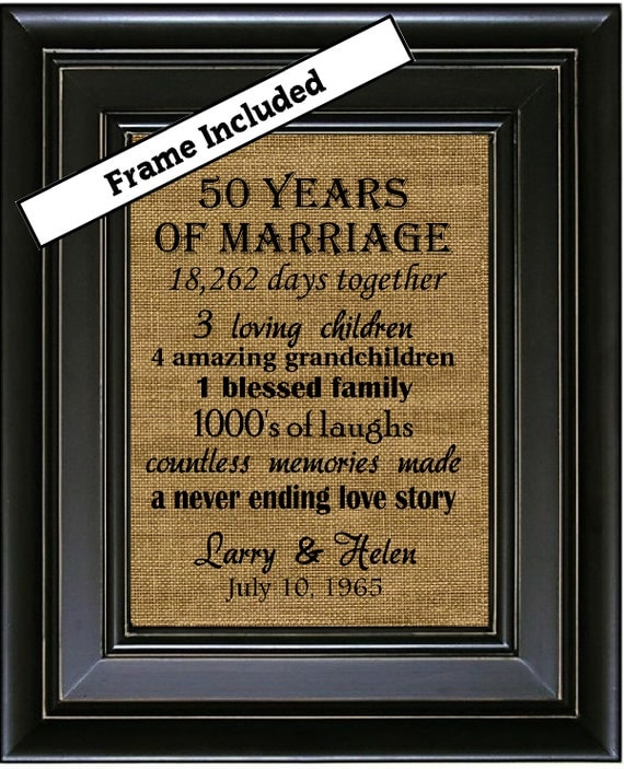 Unique Gifts 50th Wedding Anniversary : 50th Wedding Anniversary/50th Anniversary Gifts/50th Wedding ...