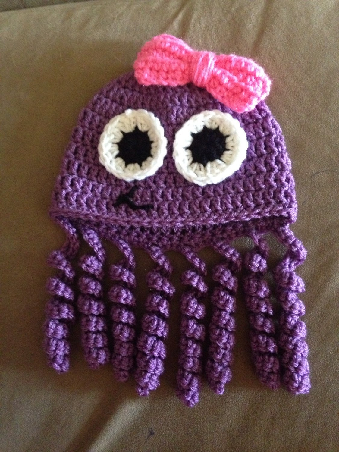 Crochet Octopus Hat : Crochet octopus hat size 0-6 months by TwistedYarnies on Etsy