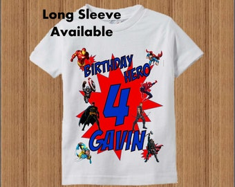 Superhero Birthday  - Raglan Shirt Available