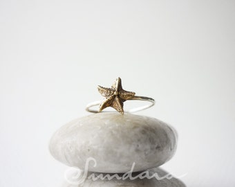Starfish Charm Ring