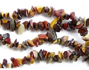 Chips beads wire Jasper mokaite - 90cm brand new wire