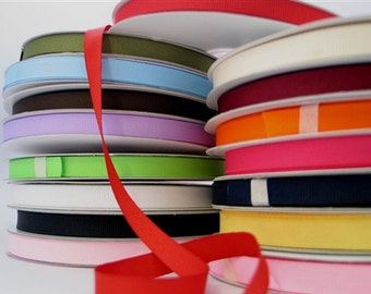 Plain Grosgrain Ribbon -Various Sizes (50 Yards) for crafting and decorating - Free Shipping!