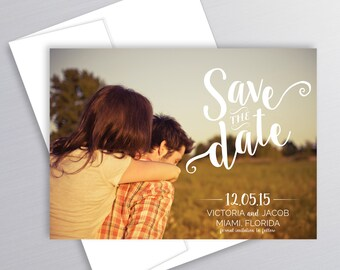Photo Save the Date, Card, Printable, Wedding, Custom Save the Date, Engagement, Announcement, Modern Save the Date, Wedding Announcement