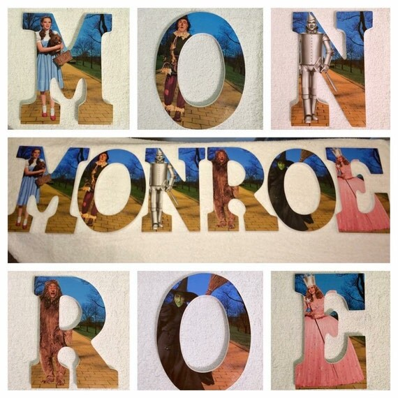 Custom Wooden Letters Hanging Wizard Of Oz Follow The Yellow