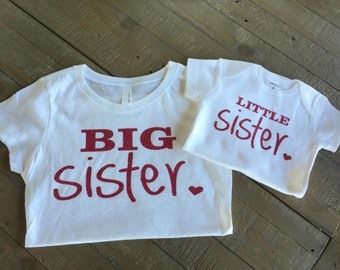 Big Sister Little Sister Shirt Set
