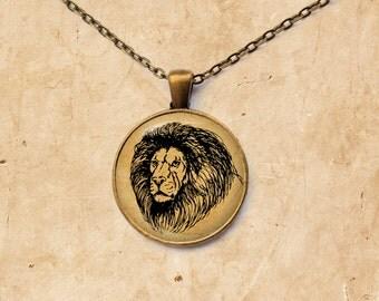 Big Cat jewelry Lion necklace Animal pendant