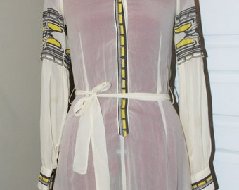 VTG DIESEL 90s Silk See Through Dress