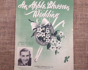 SALE WAS 2 Vintage Sheet Music. An Apple Blossom Wedding. 1947. For Piano