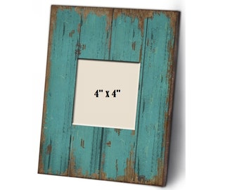 Shabby Chic Blue Wood Picture Frames