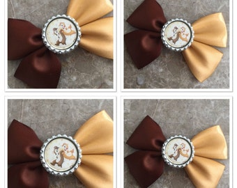 Chip and dale hair bow inspired
