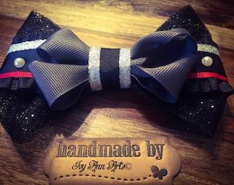 Vader Hair Bow, Girl Big Bow, Fangirl, Fanwear, Comic Con, Handmade, Original