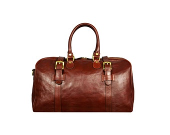 Genuine Leather Duffel Bag, Travel Bag, Weekend bag, Leather Unisex Travel Bag - The Lord of The Rings