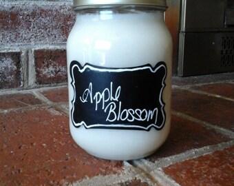 Apple Blossom 16 oz Soy Mason Jar Candle