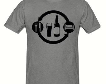 Eat Sleep Beer / Pub Repeat t shirt,men's t shirt sizes small- 2xl, Drinking men's t shirt