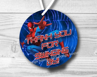 "INSTANT DOWNLOAD Spiderman Favor Tags Printable 3"" Favor Tags - Spiderman Favor Tags - Spider-Man Favor Tags - Printable"