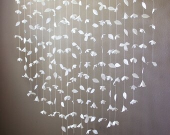 Anthropologie Inspired Paper Flower Garland