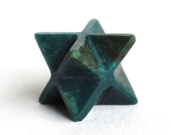 Bloodstone Hand Cut Crystal Merkaba Star Natural Stone