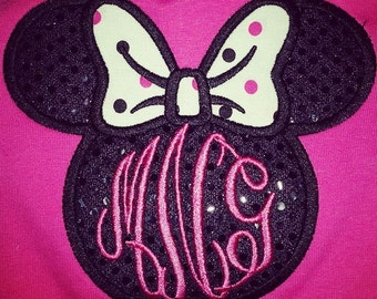 Infant Minnie Mouse Applique