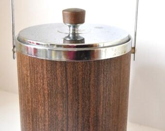 Vintage Kromex Ice Bucket Mid Century Bar Accessory