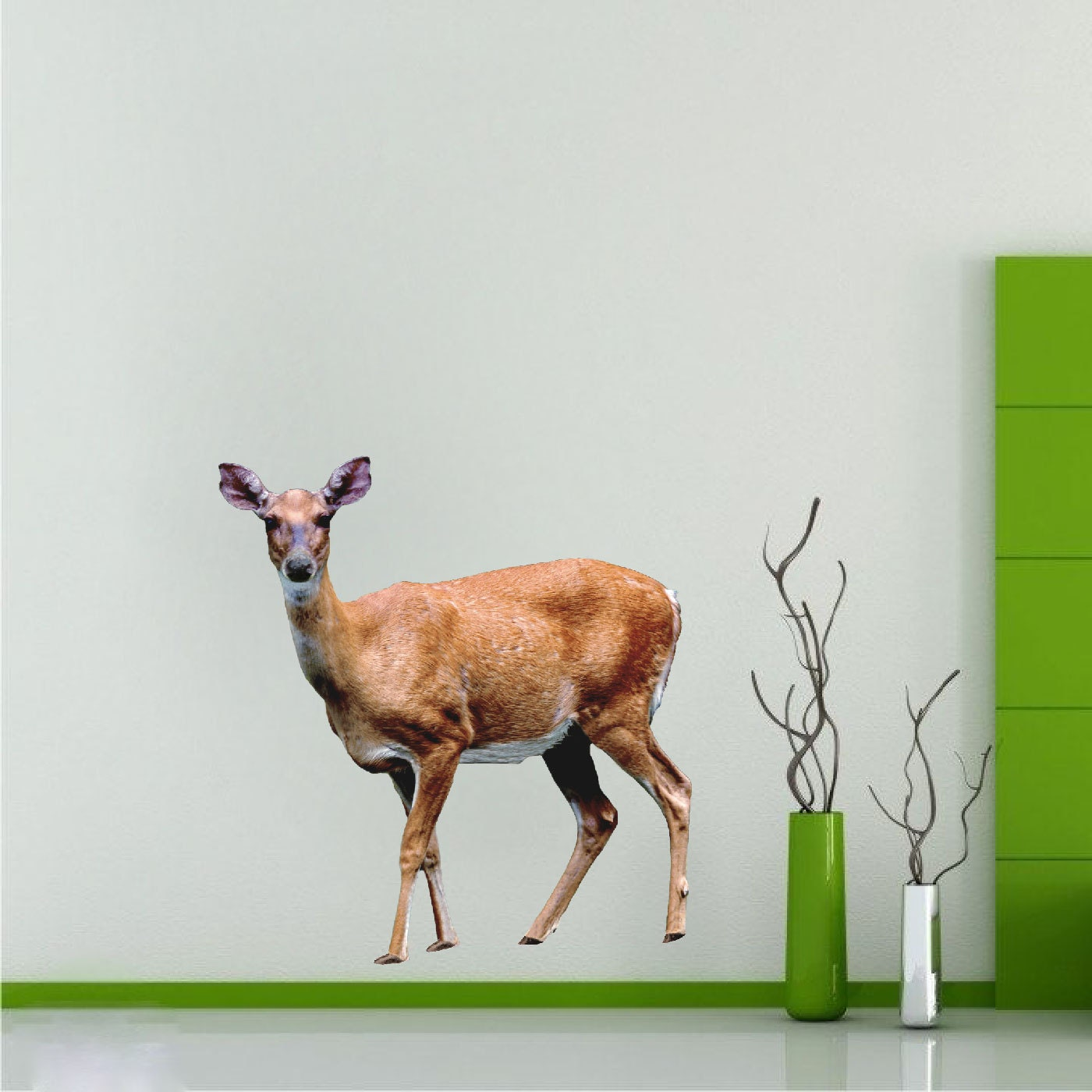 deer wall decal mural sticker doe wall decal deer stickers