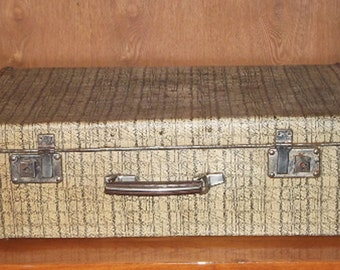 Antique Suitcase, Vintage Luggage, Cardboard Suitcase, Cardboard Luggage, Vulcanised Fibre Luggage, soviet Suitcase, Vintage Luggage