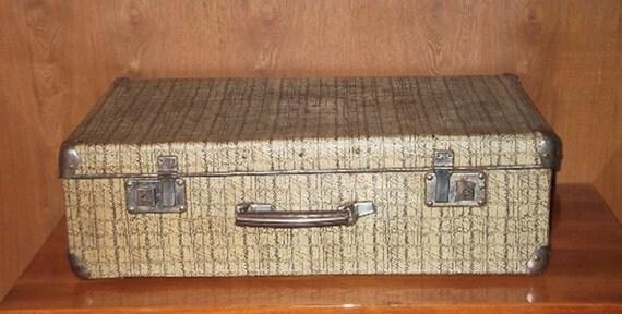 Antique Suitcase Vintage Luggage Cardboard Suitcase