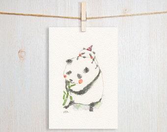 Panda Art Postcard