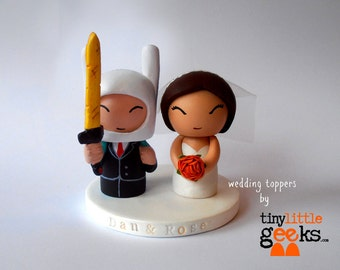 Adventure Time inspired Wedding Cake Topper