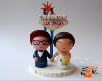 Wedding Cake Topper - Custom Las Vegas Wedding topper