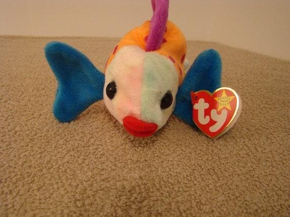 Ty beanie baby 1999 lips fish for Fish beanie baby