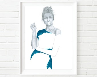 Limited Edition Print Fashion Illustration Painting by Katie Munro 'Imogen'