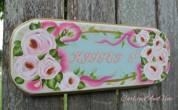 "Cottage Chic ""Kisses 5 cents"" sign"