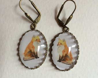 Boucles d'oreilles avec animaux/Earrings with animals