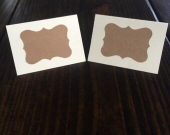 Kraft Paper Place Cards (Set of 12)