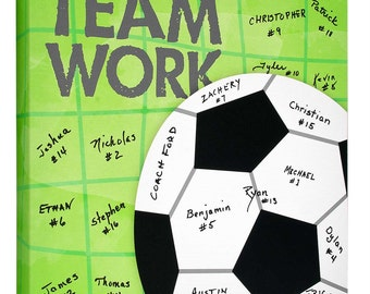 Soccer Team Gift~ Soccer Coaches Gift~Personalized Gift~Signature Canvas~Soccer Ball~Sports Keepsake~Team Parent Gift