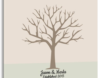 Family Tree Guest Book Alternative~ Weddings, Family Reunions and Birthday Celebrations ~ Personalized Guest Book~ Signable Canvas~