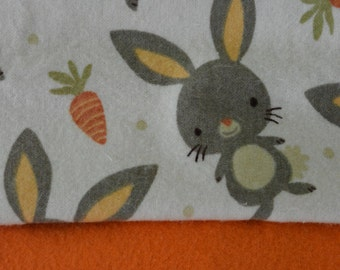Bunnies and Carrots Receiving Blanket - Large
