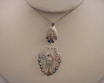 Sterling Silver Ornate Pendant