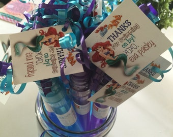 Little Mermaid Party Favor Tags only