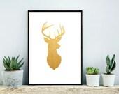 Deer Print, Instant Download, Printable Art, Wall Decor,  Nursery Art,  Digital Art, Abstract Deer Print