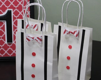 Bow tie Favor Bags - set of 12