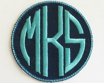 Monogram Circle Patch Iron-On Applique