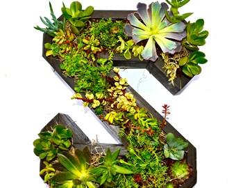Monogrammed Wooden Flower Planter