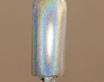 SpectraFlair Alternative Silver Holographic Ultra Fine Powder 35 Micron -  Cosmetic Grade Pigment Solvent Resistant Nail Polish