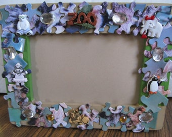 Wood Puzzle Picture Frame