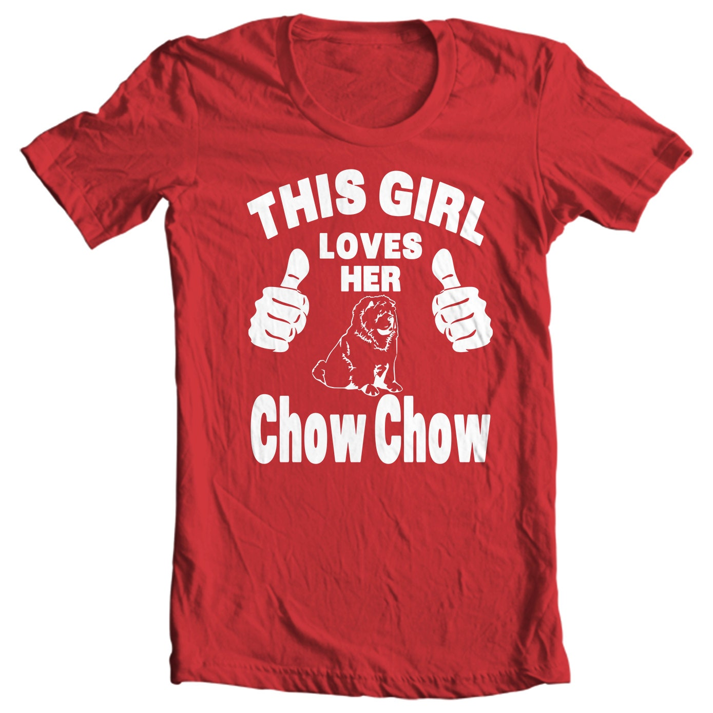 Chow Chow T-shirt - This Girl Loves Her Chow Chow - My Dog Chow Chow T-shirt